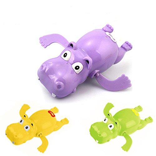 Juguete Baño Bebe,Morbuy Baño Tiempo Diversión para Bebé baño juguetes de natación bañera linda natación juguetes Baño Juguetes Natación Wind-up Bañera/Piscina Juguetes set para Niños, Colores Aleatorios (1xHippo)