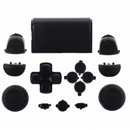 SAR-Market - PS4 Playstation 4 Controller Modding Buttons Styling Knöpfe D-Pad Set schwarz (JDM-001,011,020,021)