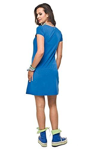 Robe d'été en coton, circonstance robe, modèle: Hope Bleu