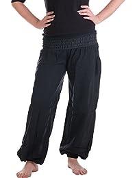 Vishes – Alternative Bekleidung – Sommer Chino Haremshose aus Baumwolle mit super elastischem Bund – handgewebt
