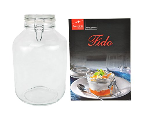 Einmachglas Bügelverschluss Original Fido 5,0L incl. Bormioli Rezeptheft