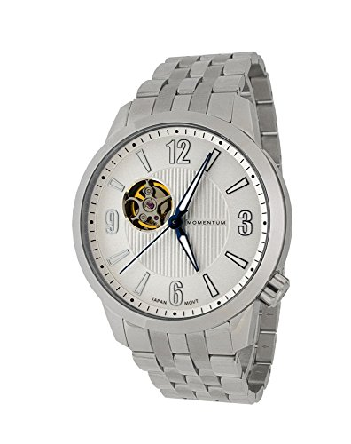 Momentum Men's ' Automatic Stainless Steel Casual Watch, Color:Silver-Toned (Model: 1M-SN90WS0)