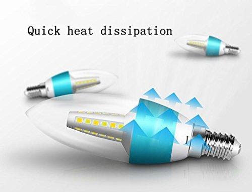 DZW Bulbo del candelabro de E14 LED, 5W E14 Base, bulbos de la vela de 3000K LED, 220V, regulable, Adaptar una araña con la lámpara de cristal , blue , 1Fuente de alimentación de corriente constante