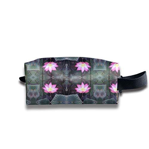 Balinese Lotus Blossom_6887 Tragbare Reise Make-up Kosmetiktaschen Organizer Multifunktions-Tasche Taschen für Unisex (Blossom Lotus Schmuck)