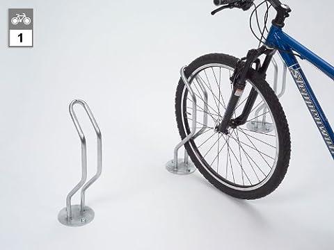 Support vélo, compact, 1 emplacement galvanisé, à sceller dans le béton - - arceau range-vélos arceaux range-vélos range vélos support pour bicyclettes support pour cycles support pour vélos supports cycles supports pour bicyclettes supports pour cycles