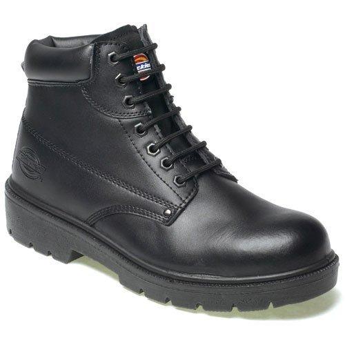Dickies Mens Antrim Safety Boot Shoes Steel Toe Cap & Steel Midsole Work Branded Lightweight Footwear Oil & Slip Resistant FA23333 BLACK SIZE UK 6 by Dickies Black Steel Toe Work Boot