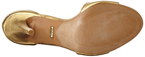Buffalo London 316-3200 Sheep Metalic, Sandali con Zeppa Donna Oro (Gold 01)