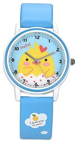 Kezzi Mädchen Uhren Quarzwerk Analog Cartoon Kinder Uhren Lederband Mädchen Armbanduhr K667 (blau) (Unsere Welt Kinder Anzeigen)