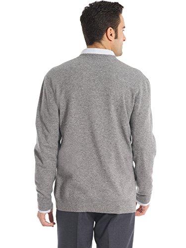 Les essentiels - Gilet boutonné laine et cachem Gris