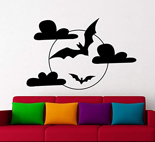 daufkleber Halloween Wandtattoo Fliegende Fledermaus Abnehmbare Aufkleber Wohnkultur Fenster Wohnzimmer Wandaufkleber 64 * 42 cm ()