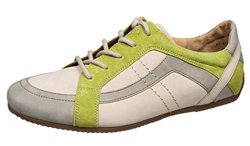 Gabor 63.120.31 chaussures basses en cuir pour femme/visone/limett poudre - puder/visone/limett