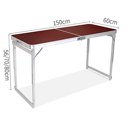 Table de Pique-Nique Table Pliante Camping en Plein air sur tréteaux pour banquets de Camping en Plein air - 150cm x 60cm (L & W) (Couleur : A1)