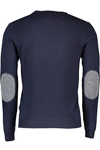 Guess Ls Hn Dulio Swtr-M63r50z1bi0, T-Shirt Homme Blu