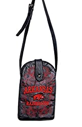 NCAA Arkansas Razorbacks Women's Cross Body Purse, Black, One Size