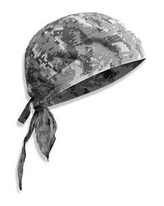 Bandana militaire préformé US Army - AT digital camouflage - Serrage ajustable - Airsoft - Paintball - Moto - Biker - Outdoor