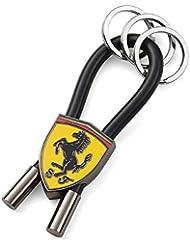 Llavero Scuderia Ferrari Oficial Scudetto Aros Negro