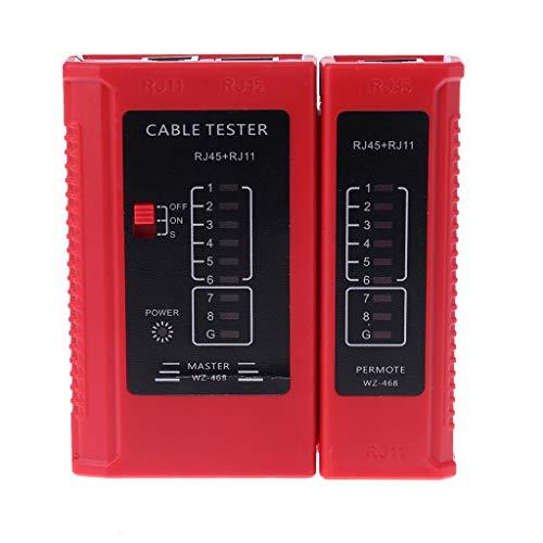 Qiman Antennenanalysator WZ-468 RJ45- Und RJ11 Netzwerkkabel Telefon Tester Ethernet LAN Drahtleitung Test Messwerkzeuge