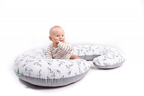 LULANDO Schwangerschafts-Seitenschläfer-Kissen (130x60cm) für Erwachsene und Babys. Stillkissen, Sitzkissen und Lagerungskissen zum Schlafen, Ausruhen und Spielen.