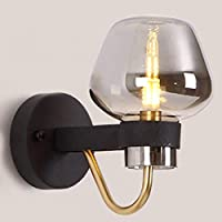 LCK Lights for Wall,Sconce Clear Glass Shade Showcases Northern Europe Wall Lamp Room Bedroom Hallway Complete Protection Complex Procedures Wall Lights,Wall Mounted Lights,