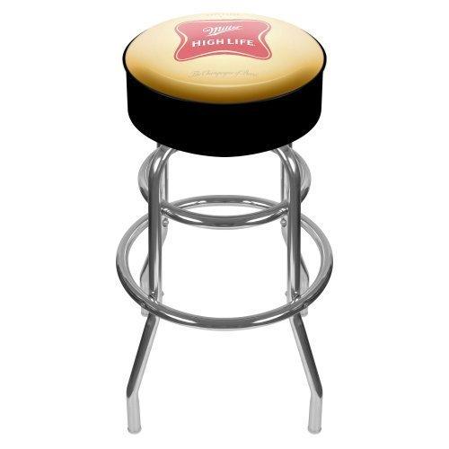 Miller High Life Padded Swivel Bar Stool by Trademark Gameroom