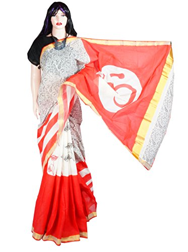 Indian Beauty Boutique Traditional Ethnic Women's Girl's Ladies Kerala Cotton Transparent Desigen Saree Sarees Handloom Work South Indian Saree with Maching Blouse Piece Free Size