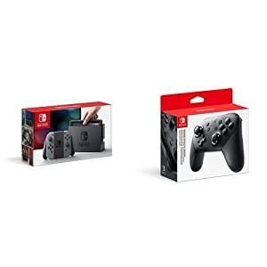 Nintendo Switch Konsole Grau & Nintendo Switch Pro Controller