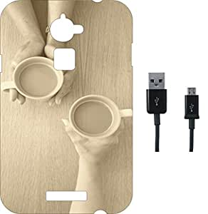 BKDT Marketing Printed Soft Back Cover Combo for Coolpad Note3 Lite With Charging Cable