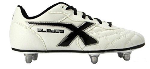 Legend SG 6 Crampons Enfants - Chaussures de Rugby Blanc white