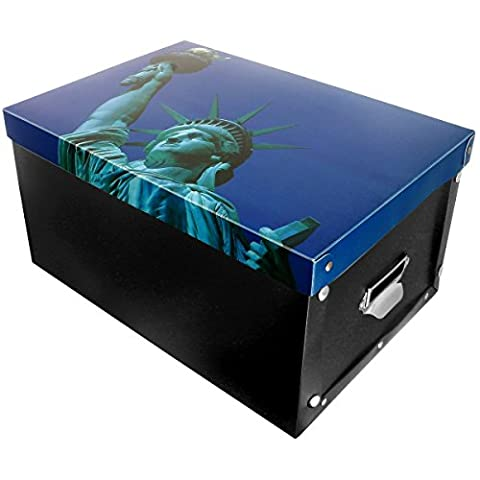New York - Boite Box De Rangement Pliable Déco New
