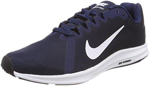 Nike Downshifter 8, Zapatillas de Entrenamiento para Hombre, Azul (Midnight Navy/White-Dark Obsidian-Black 400), 44 EU