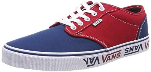 Herren Skateboard Deck (Vans Herren Atwood Canvas Sneaker, Mehrfarbig ((Sidewall Logo) Sailor Blue/Red Veh), 42 EU)