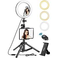 "ELEGIANT Anillo de Luz Trípode LED 10.2"", Aro de Luz con Trípode Soporte 1.34 m para Tableta/Móvil con Control Remoto Bluetooth, 3 Modos Luz + 11 Niveles Brillo para Tiktok Live Selfie Volg Youtube"
