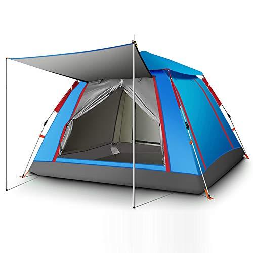 XUN Campingzelt, Automatisches Pop-Up-Outdoor-Mobilezelt, 210D wasserdichtes Oxford-Stoffzelt, inklusive kostenloser Aufbewahrungstasche,Blue,240x240x154cm