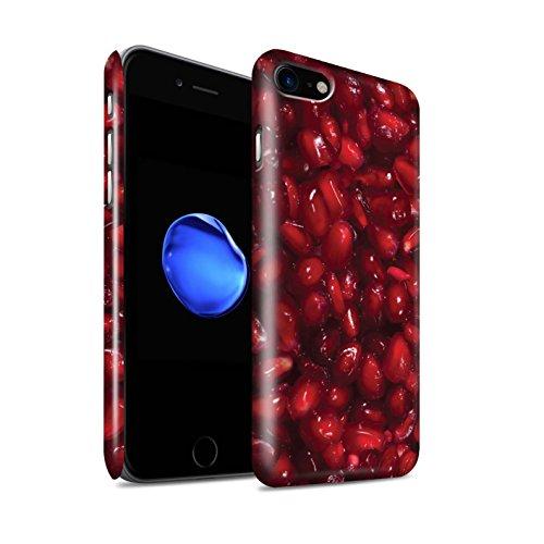 STUFF4 Glanz Snap-On Hülle / Case für Apple iPhone 8 / Melone Muster / Saftige Frucht Kollektion Granatapfel