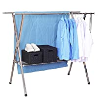 Jolitac Foldable Clothes Drying Rack Free Installed Stainless Steel Space Saving Retractable Rack Hanger Heavy duty