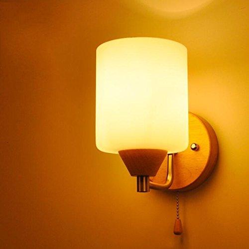 flur-treppe-nachtschlafzimmerwand-glas-wandleuchte-tatami-holz-e27-220v