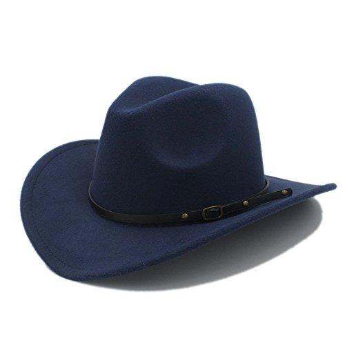 BEITE- Retro Wolle Frauen Männer Western Cowboy Hut Für Gentleman Cowgirl Jazz Kirche Cap ( Farbe : 4 , größe : 57-58CM (Kostüm Männer Europäische Für)