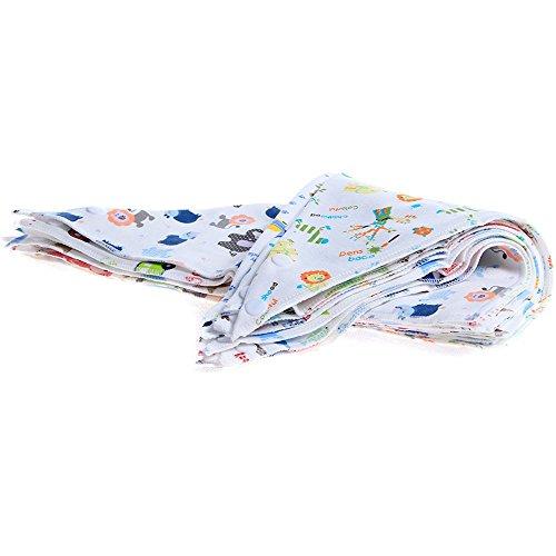 Labebe Baby Lätzchen Baumwolle, Unisex Mullwindeln Spucktücher 10er Pack D für Baby, Weiches Lätzchen/Dreieckstücher Sommer/Baby Lätzchen Lässig/Spucktücher Baumwolle Mulltücher/Spucktücher Set