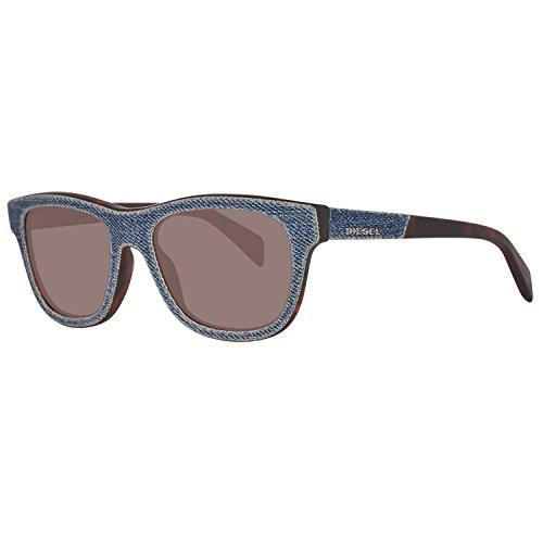 Diesel Unisex-Erwachsene DL0111 5292N Sonnenbrille, Blau, 52