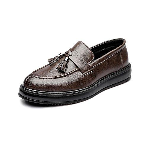 Leder Skateboard Schuh (Fashion Classic Oxford Schuhe Herren Business formale PU Leder Schuhe klassische Skateboard flache Schuhe Quaste Anhänger dekorative Außensohle Oxford Schuhe Retro Temperament Oxfords)