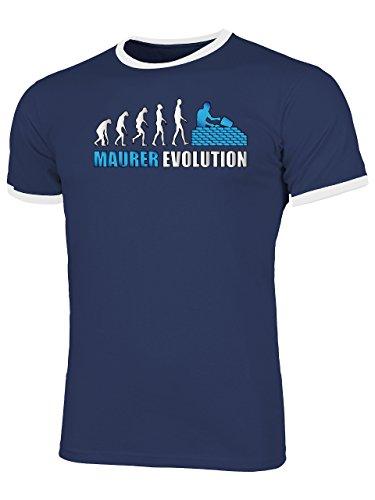 Golebros Maurer Evolution 4580 Herren Ringer T-Shirt (HR=Navy-Weiss/AD=Blau) Gr. XL