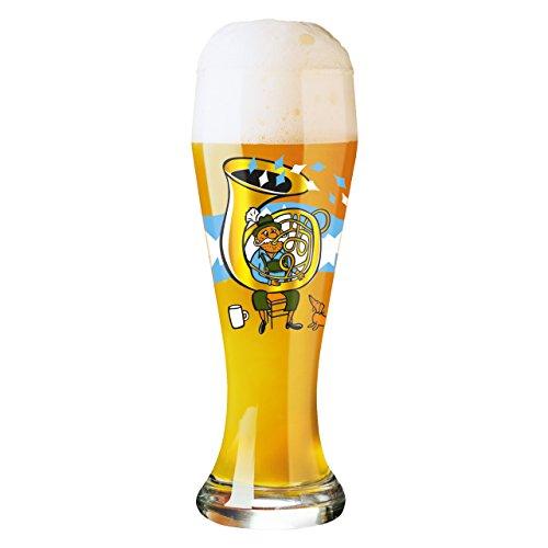 Ritzenhoff 1020196 Weizenbierglas, 8,5 x 8,5 x 23 cm, mehrfarbig