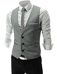 Zicac tendance et décontracté pour homme Coupe Skinny Slim robe et gilet