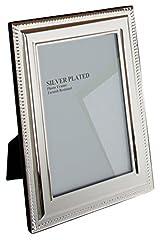 Idea Regalo - Viceni Cornice Placcata Argento con bordo rifinito a Treccia, 15x20 cm