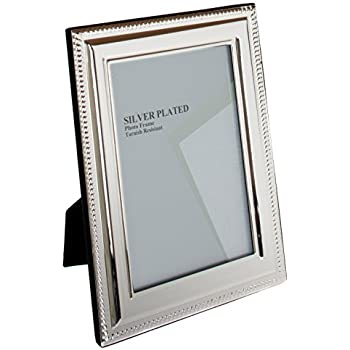 Unity 8 x 10-inch Bead Photo Frame, Silver Plated: Amazon.co.uk ...