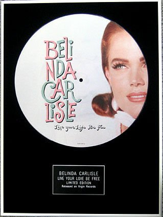 Belinda carlisle-framed 30,5 cm disc-live immagine your life