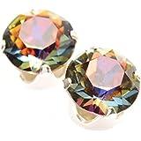Venta de liquidación. 925 aretes de plata hechos a mano con cristales de color Volcano brillante de SWAROVSKI®.