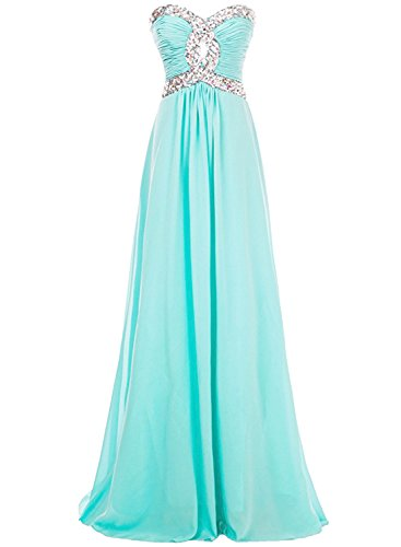 Azbro Women's Strapless Rhinestone Bridesmaid Long Prom Dress Black