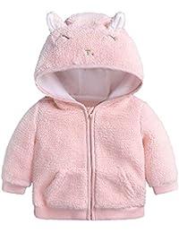 ☺HWTOP Baumwollmantel Neugeborenes Baby Jungen Mädchen Wollmantel Jacke Cartoon Ohr mit Kapuze Pullover Tops Warme Kleidung Mantel