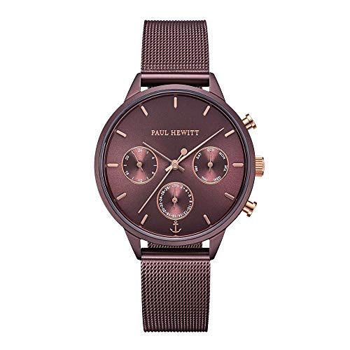 PAUL HEWITT Damen Uhr Everpulse Line Dark Mauve Sunray mit Meshband